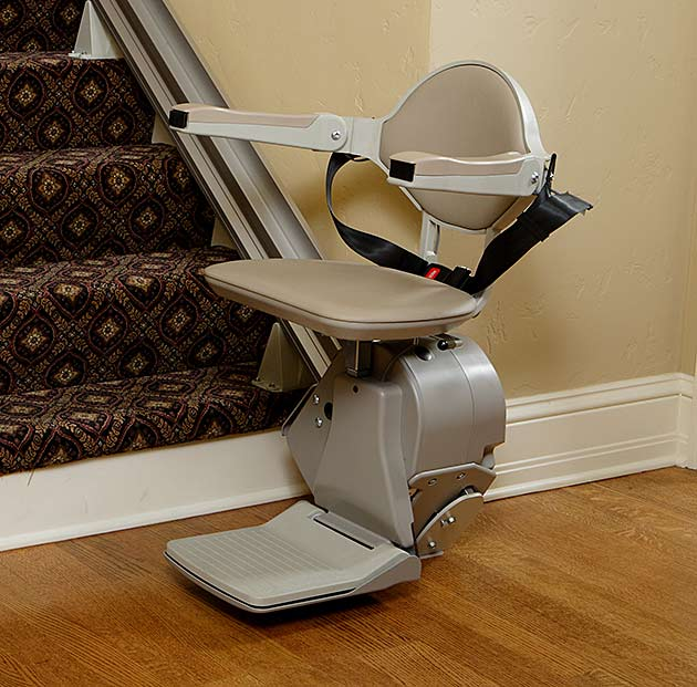 Bruno Elan Indoor Straight Stair Lift Installed in Appleton, WI