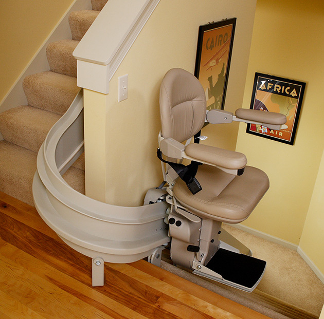 Bruno Elite Indoor Curved Stair Lift Installed in Appleton, WI