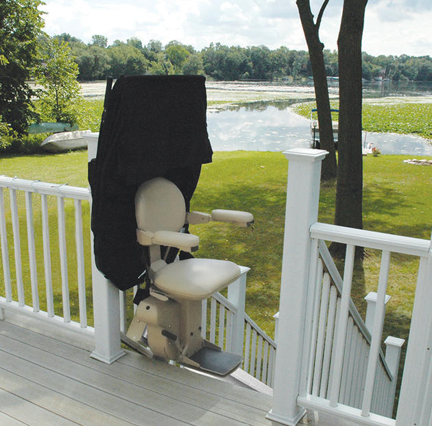 Bruno Elite Outdoor Straight Stair Lift Installed in Appleton, WI